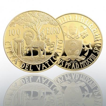 (2018.06.01) MONETA AUREA EURO 100 - 2018