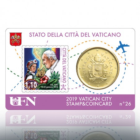 (10-09-2019) STAMP & COIN CARD 2019 N° 26