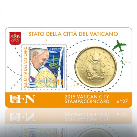 (10-09-2019) STAMP & COIN CARD 2019 N° 27