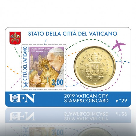 (10-09-2019) STAMP & COIN CARD 2019 N° 29