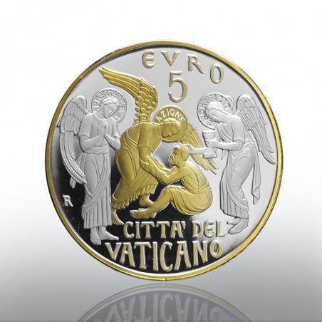 (01-10-2019) MONETA 5 EURO AG E AU (FS) 2019 CIRC. S. PIETRO