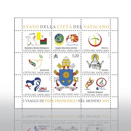(10-11-2020) I VIAGGI DI PAPA FRANCESCO NEL MONDO - 2019 (EM. 2020) - FOGLIETTO