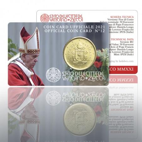 (03-05-2021) VATICAN COIN CARD N. 12 ANNO - 2021
