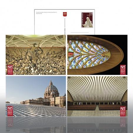 (25-05-2021) POSTCARDS: 50th ANNIVERSARY OF THE PAUL VI HAL