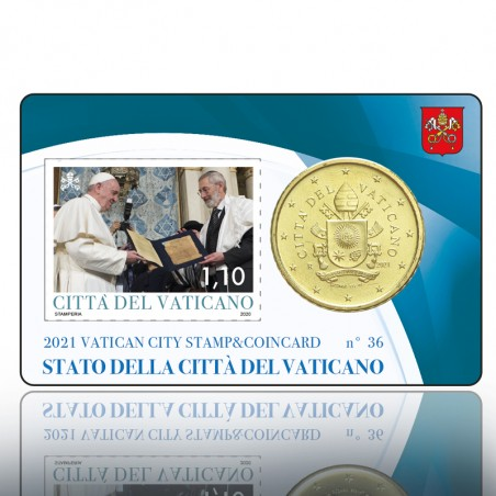 (22-06-2021) STAMP & COINCARD 2021 1,10 PONT. (BLU)