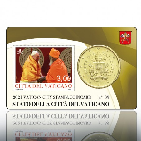 (25-06-2021) STAMP & COINCARD 2021 3,00 PONT. (Marrone)